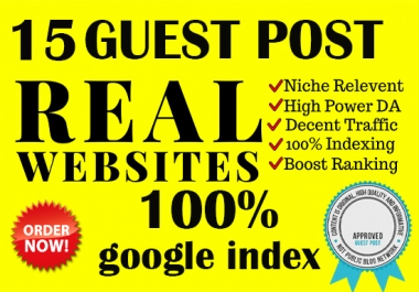 I will give your website some good quality guest post backlinks