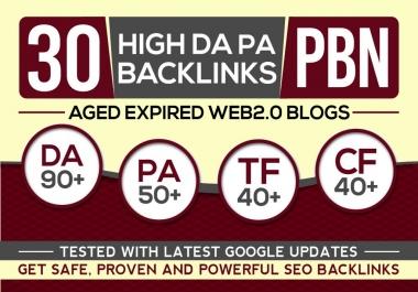 I Will Post 30 Pbn Backlinks, High Da Pa Aged Web2 Pbn Posts