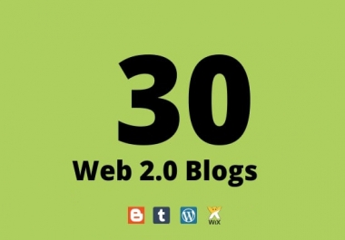 I Will Rank your blog with 30 WEB 2.0 backlinks