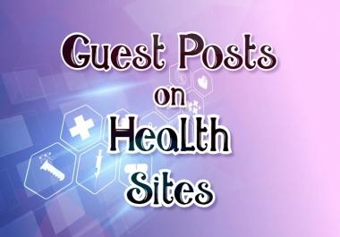 Publish Guest Posts on Health Niche SEO Backlink Building