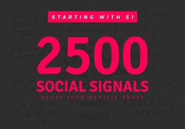 provide 2500 manually SEO social signals service