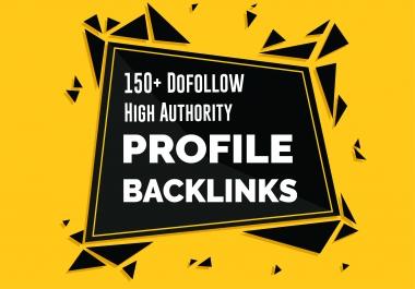 Manually 150 TOP BRAND High DA 100 to 50 Dofollow Profile Backlinks ,PR ,PA, for google ranking