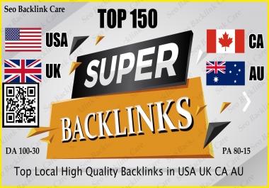 Top 150 USA UK CA AU Backlink SEO HQ Link Building Services for Google Ranking