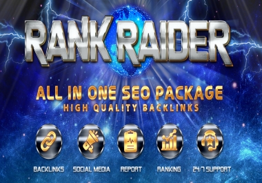 Rank Raider- All in One SEO Package Secret Formula to get #1 Google Ranking