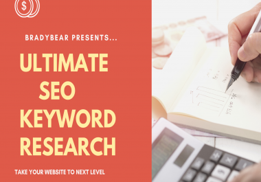 Ultimate SEO targetted keyword Research for your website