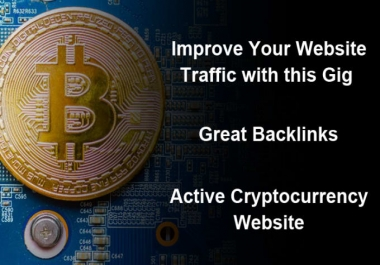 Guest post your article on my cryptocurrency website DA30