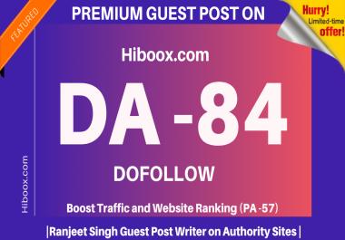 Publish a High Quality guest post on Hiboox.com||Hiboox DA82