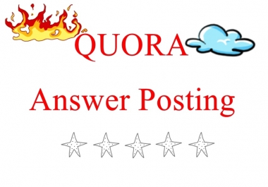 make your traffic through 30 high quality Quora Answer Posting