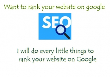 Boost your service to rank your site on google