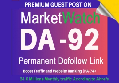 I will publish do f0llow guest p0st on marketwatch da92 limited offer