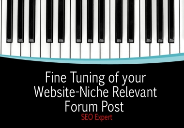 I can do 8 Niche Relevant Forum Post Back links for your website