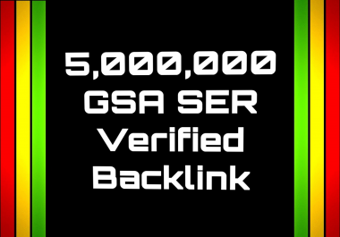 Get you Backlinks by Submitting your sites/links On 5 Million low to Medium sites by GSA