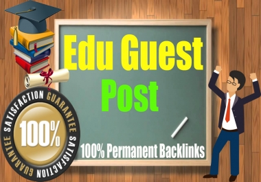 Guest Blog on 5 High Unbeatable Edu with SEO DF Backlinks