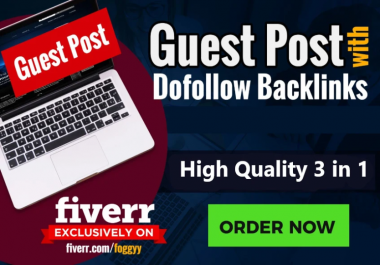 Limited Time Offer3 High Quality Guest Post With Dofollow