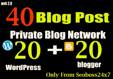 40 PBN POSTs WordPress and Blogger High DA to Rank your Websites