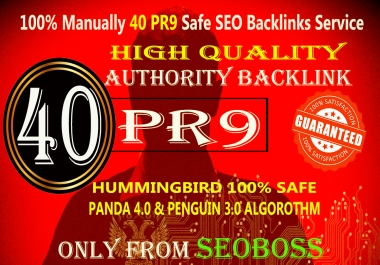 Elevate your seo Google Rankings with 40 PR9 high Quality safe backlinks