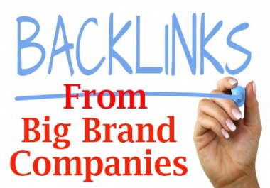 Latest Backlinks From Big Brand Companies