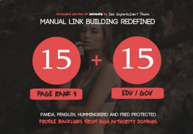 Limited time - Fire Your Google Ranking - 15 Pr9 + 15 Edu - Gov High Pr SEO Authority Backlinks