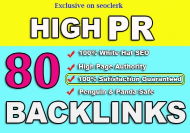 New Improved - I Will MANUALLY Do 80 UNIQUE PR10 SEO BackIinks on DA100 sites Plus Edu Links