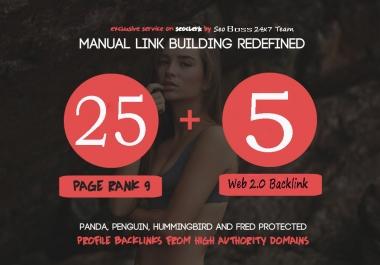 Make 25 Pr9 Do-Follow Seo Backlink + 5 Super Strong Web2.0 Backlink