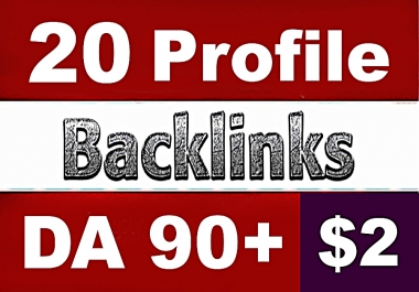 20 PR9 DA90+ White Hat SEO Profile Backlinks
