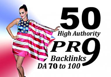 Manually create 50 DA 70+ USA PR9 Profile Backlinks