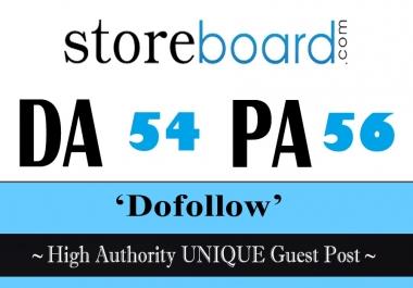 Publish High Authority Unique Guest Post on Storeboard.com DA 54