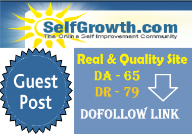 Publish Guest Post On Selfgrowth.com DA 65+ DR 79+