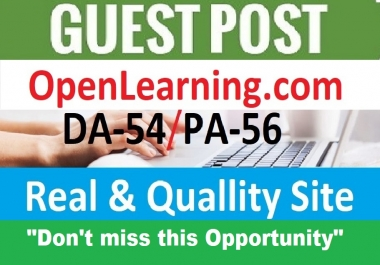 Publish HQ Guest Post On Openlearning. com DA54+ Blog