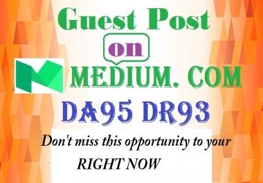 Publish Guest Post On Medium. com DA95 DR93