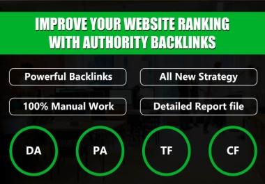 do 60 dofollow high 50 plus DA sites, to get valuable backlinks