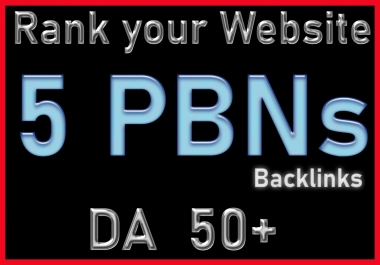 Get 05 PBNs Homepage Permanent Backlinks for high ranking DR 50 Plus