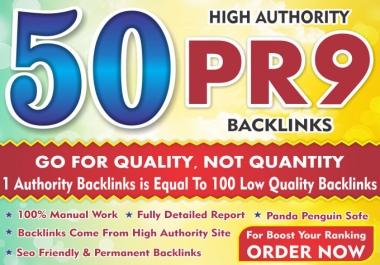 50 PR9-7  DA 70+ Highpr SEO Authority Backlinks To Fire Your Google Ranking for seo