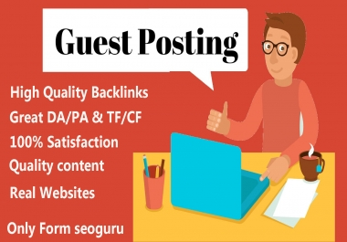 I can do 5 Guest post very low cost High DA Site-