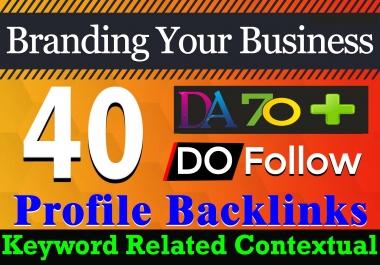 Ranking Your Keyword with 40 PR9 high DA/PA Safe Keyword Related Contextual Profile Backlinks