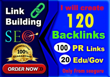 Manually Do - 100 Pr9 + 20 Edu-Gov High Domains Authority Safe Seo Backlinks From - White Hat SEO