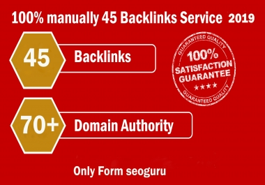 Limited Time- 45 Backlinks from High DA-70+ Domains-Skyrocket your Google RANKINGS for