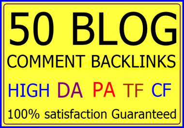 make 50 Niche Related High Quality Blog Comments
