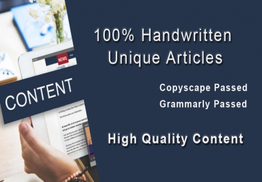 Article Writing Service - 300 words - Unique Content
