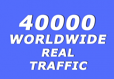 40.000+ Real Human Traffic from Social Media