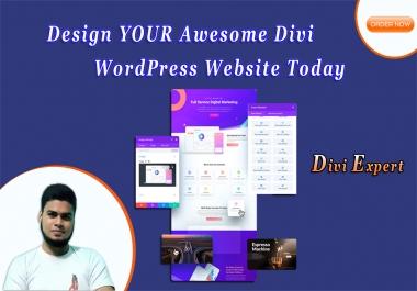 I will Design awesome divi WordPress webiste with divi