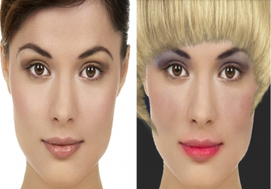 I AM ABLE TO  CHANGE YOUR HAIRSTYLE, ADD MAKEUP, TATTOOS OR JEWELRY TO PHOTO's YOU SUPPLY