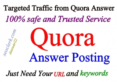 Guaranteed 12 High Quality Quora Answer & Upvotes