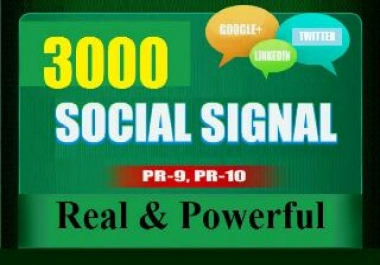 Provide 3000 seo social signal