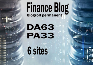 Give your backlink on da63x6 finance blogroll dofollow