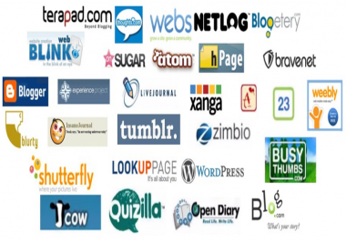 Build 50 web 2.0 blog of Highest Quality and Most Effective Links