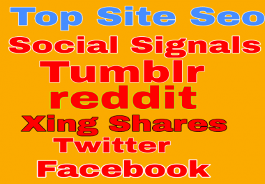 7000 Social Signals from Top Sites