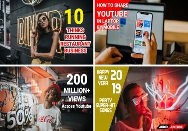 I will create eye catchy youtube thumbnail