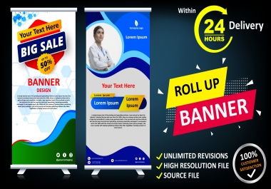 Design Any Banner, Cover, Billboard or Roll up Within 24 Hours