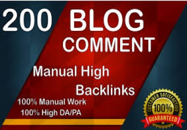 200 Manually Dofollow blog comments Backlinks Actual Page Pr6 To Pr2